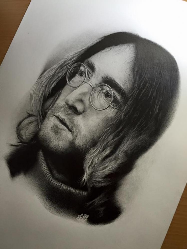 John Lennon par Finefinishportraits